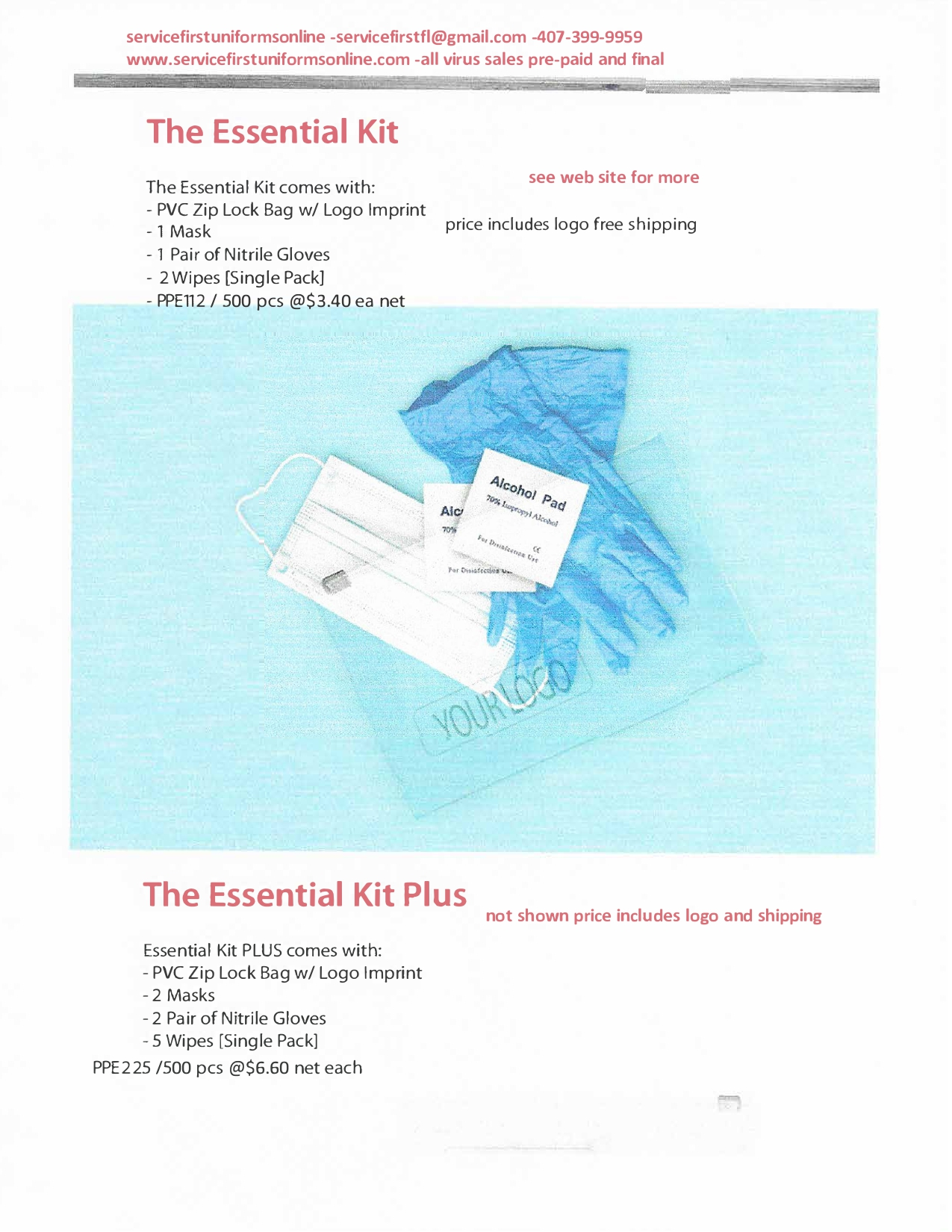 Essentials Kits Flyer